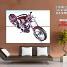 Wraith Chopper Concept Bike Motorcycle Huge Giant Print Poster