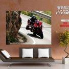 Yamaha Red Black Super Sport Bike Huge Giant Print Poster