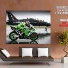 Sport Bike Vs Aircraft Motorcycle Huge Giant Print Poster