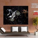 Yamaha Air Trick Motocross Bike Motorcycle Huge Giant Print Poster