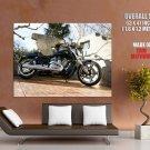 Harley Davidson Shiny Classic Bike Huge Giant Print Poster