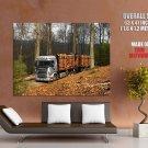 Scania R470 Truck Trailer Wood Huge Giant Print Poster
