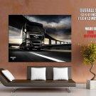 Man Tgx Heavy Truck Range Trailer Huge Giant Print Poster