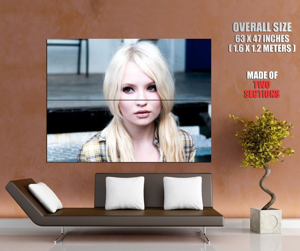 Emily Browning Cute Blonde Girl Portrait Huge Giant Print Poster
