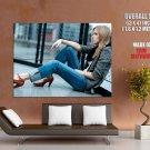 Hot Blonde Girl Model Jeans Huge Giant Print Poster