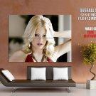 Hot Blonde Girl Portrait Pretty Face Huge Giant Print Poster