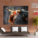 Dancing Hot Redhead Girl Breakdance Huge Giant Print Poster
