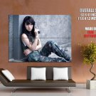 Military Asian Perky Babe Pistol Gun Huge Giant Print Poster