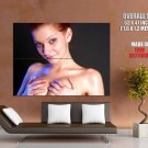 Topless Redhead Girl Holding Titts Huge Giant Print Poster