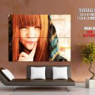 Foxy Redhead Girl Pretty Face Huge Giant Print Poster