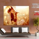 Hot Redhead Girl Nature Hat Huge Giant Print Poster