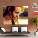 Hot Redhead Girl Portrait Face Huge Giant Print Poster