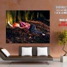 Sleeping Hot Redhead Girl Huge Giant Print Poster