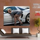 Hot Girl Sexy Stocking Street Car Huge Giant Print Poster