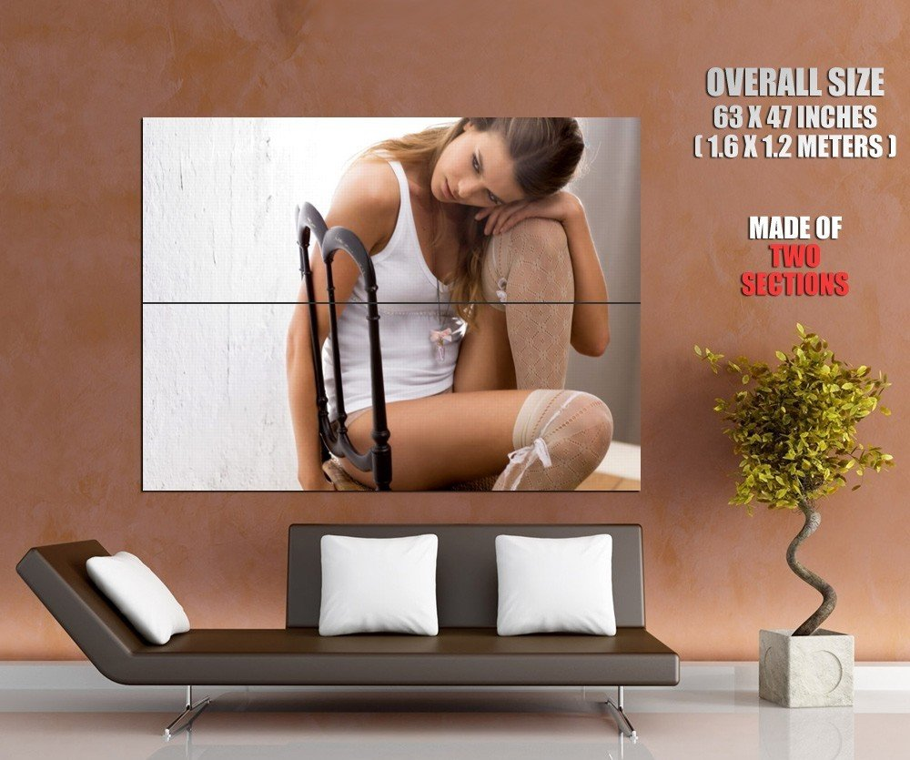 Tempting Girl Hot Legs Sexy Stocking Huge Giant Print Poster