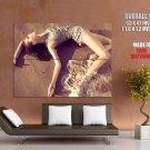 Sexy Hot Wet Girl Waves Seashore Huge Giant Print Poster