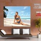 Hot Model Girl Sexy Bikini Seashore Huge Giant Print Poster