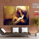 Hot Curly Pretty Girl Green Eyes Art Huge Giant Print Poster