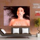Naked Brunette Babe Pearl Necklace Art Huge Giant Print Poster