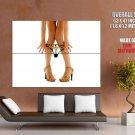 Long Sexy Legs Strip Panties Huge Giant Print Poster