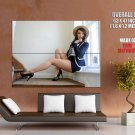 Hot Brunette Girl Sexy Legs High Heels Huge Giant Print Poster