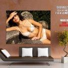 Hot Brunette Sexy Lingerie Panties Huge Giant Print Poster