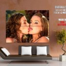 Seductive Babes Kissing Tongue Lesbian Huge Giant Print Poster
