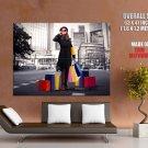 Glamour Girl Shopping City Bw Huge Giant Print Poster