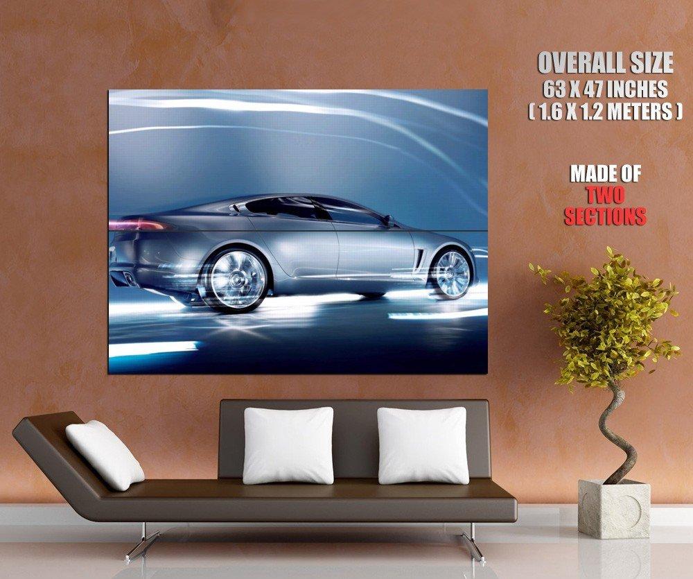 Jaguar Speed Lights Sport Car Huge Giant Print Poster