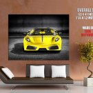 Ferrari Yellow Front Sport Car Huge Giant Print Poster