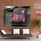 Mercedes Benz 300 Sl Convertible Retro Huge Giant Print Poster