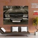 Cadillac Eldorado Black Retro Car Huge Giant Print Poster