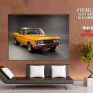 Ford Yellow Vintage Retro Car Huge Giant Print Poster