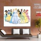 Disney Princess Cartoon Movie Huge Giant Print Poster