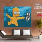 Naked Bart Simpson Underwater Movies Huge Giant Print Poster