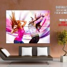 Hot Dancing Girls Cool Art Style Huge Giant Print Poster