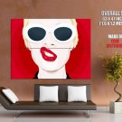 Girl Lips Piercing Cool Vector Art Style Huge Giant Print Poster