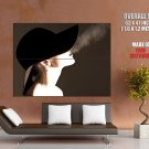 Hot Smoking Girl Hat Art Style Huge Giant Print Poster