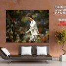 Cristiano Ronaldo Rain Football Sport Huge Giant Print Poster