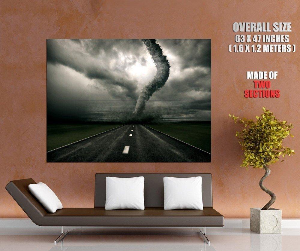 Tornado Storm Road Wind Huge Giant Print Poster