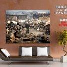 Japan Earthquake Firefighter Huge Giant Print Poster