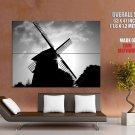 Windmill Light Sun Bw Cool Huge Giant Print Poster