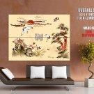 Asian Cool Storks Sun Art Huge Giant Print Poster