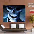 Skeleton Skull Hat Death Cool Art Huge Giant Print Poster