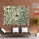 Money Pile Dollars 1 Cool Huge Giant Print Poster