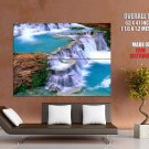 Waterfall Riffles Rocks Nature Huge Giant Print Poster