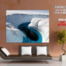 Salt White Canyon Blue Water Nature Huge Giant Print Poster