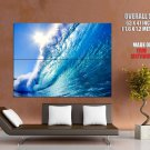 Wave Sun Water Wall Landscape Huge Giant Print Poster