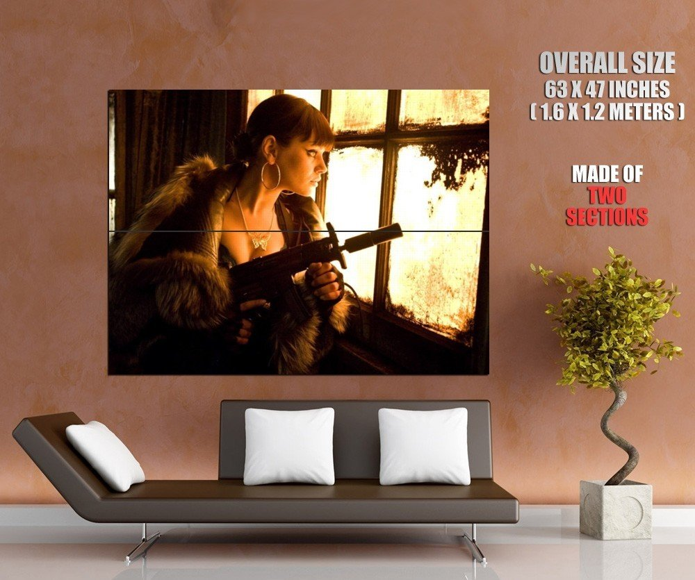 Hot Girl Smg Window Weapon Huge Giant Print Poster