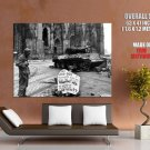 Soldier World War 2 Bw Weapon Huge Giant Print Poster